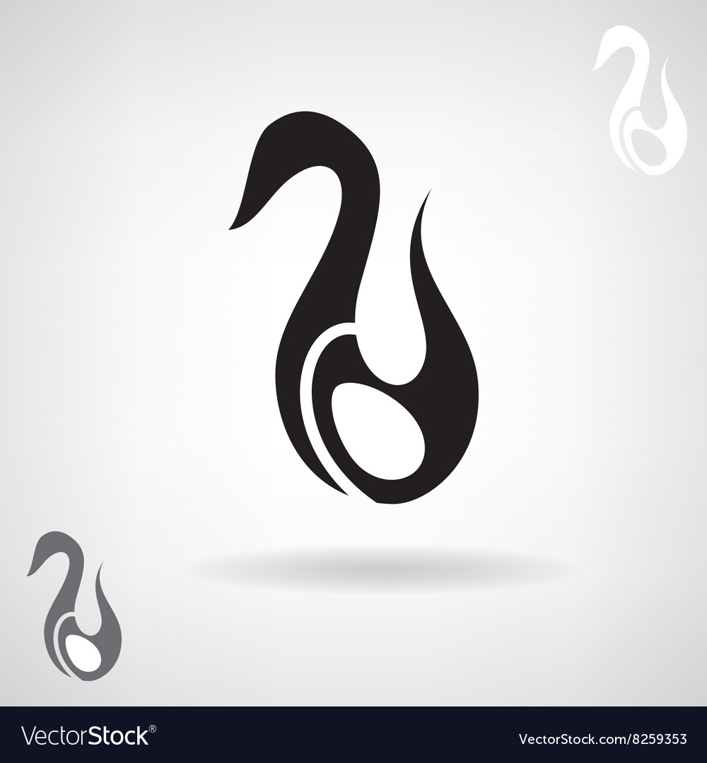 Stylized silhouette of a Swan