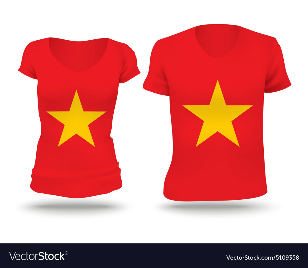 Flag Shirt Design Of Vietnam Royalty Free Vector Image