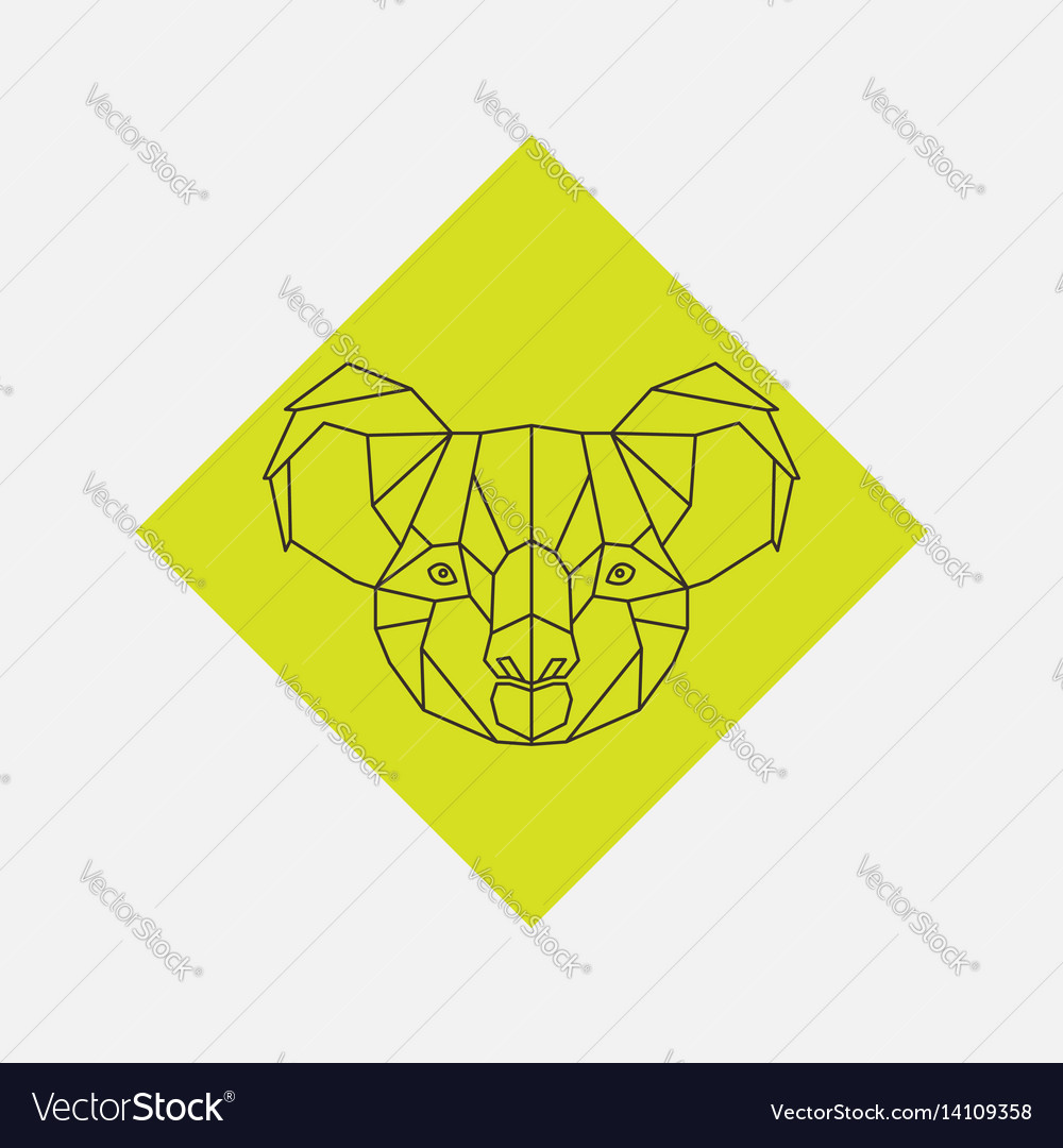 Geometric of koala animal head