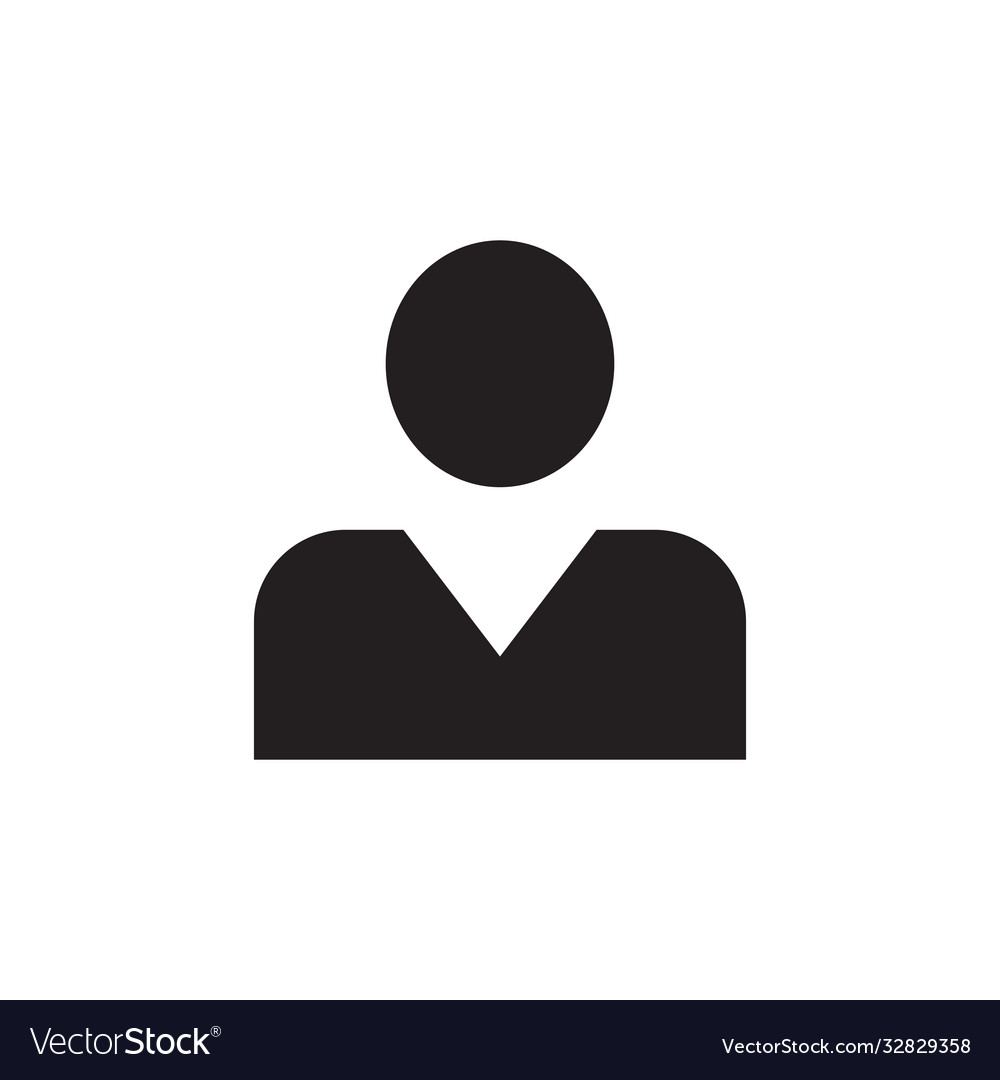 Man - black icon on white background