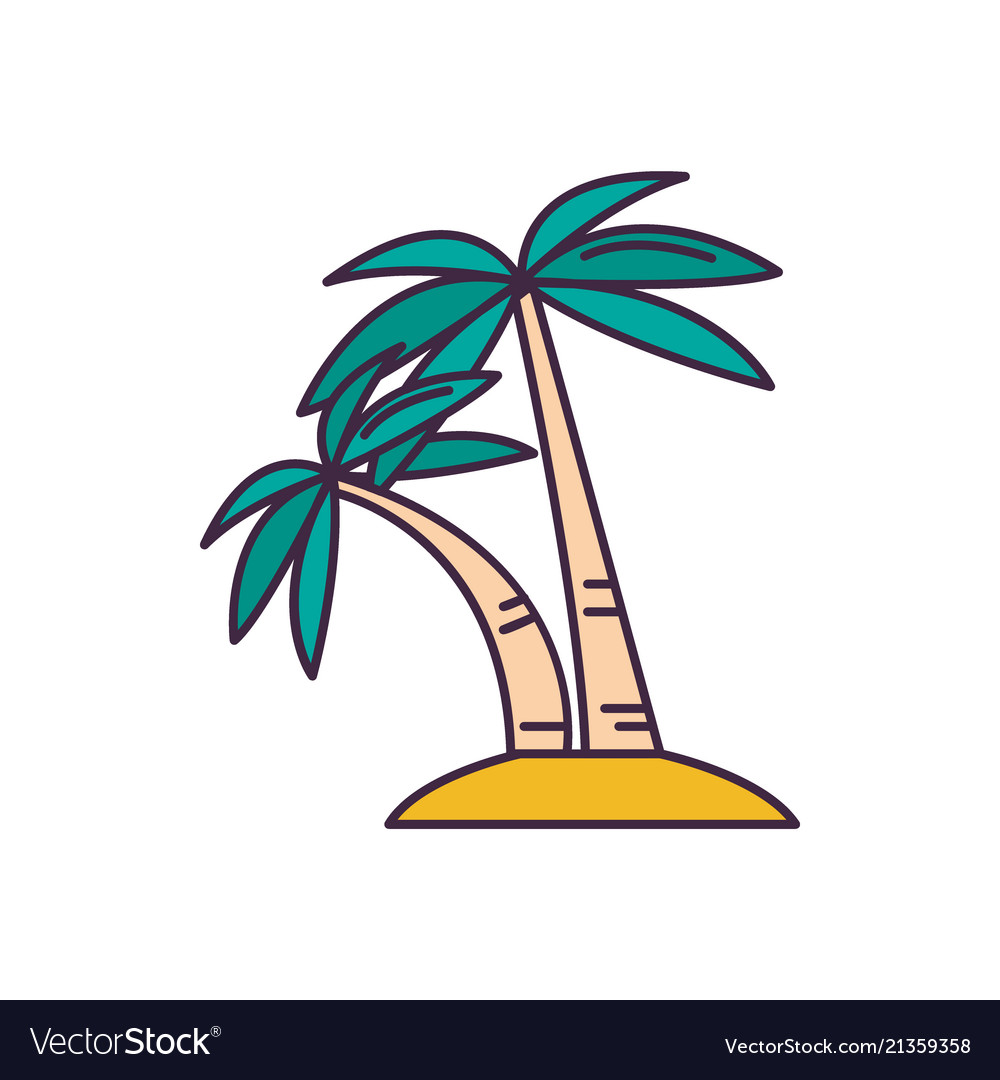 Palm tree icon cartoon style