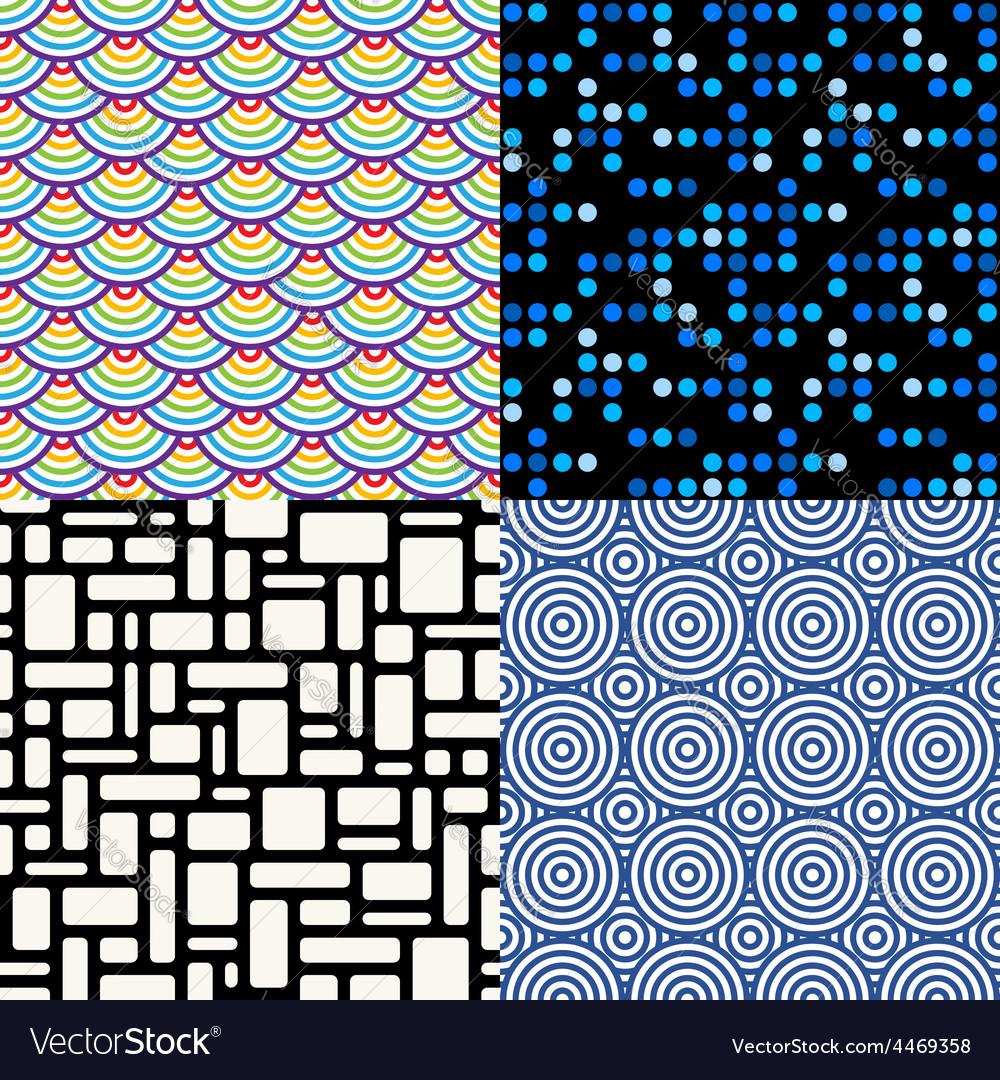 Seamless patterns Set 6 Abstract geometric