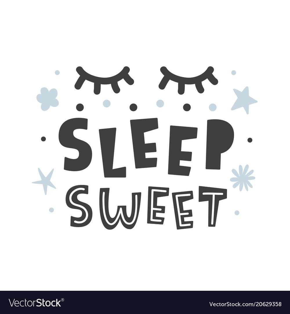 Sleep sweet scandinavian style childish poster