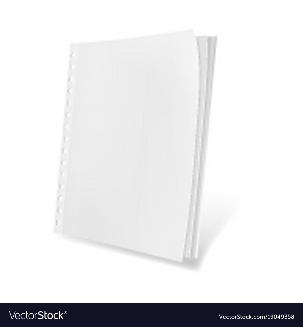 Template blank magazine vector image