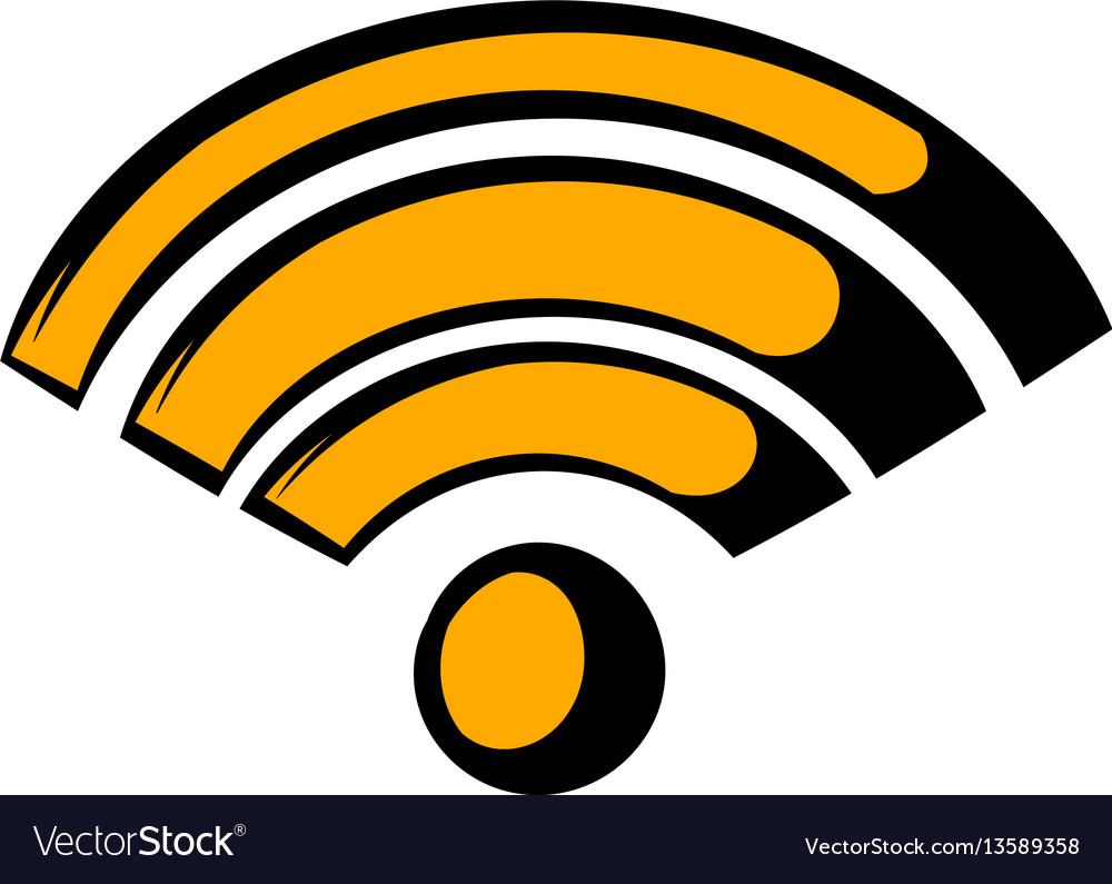 Wireless network icon icon cartoon