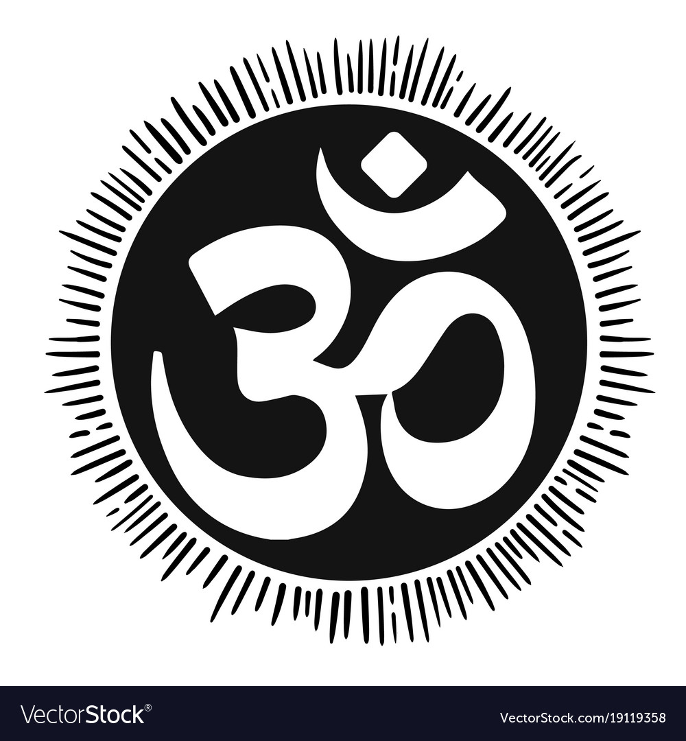 With Mantra Om Lineart Tattoo Royalty Free Vector Image