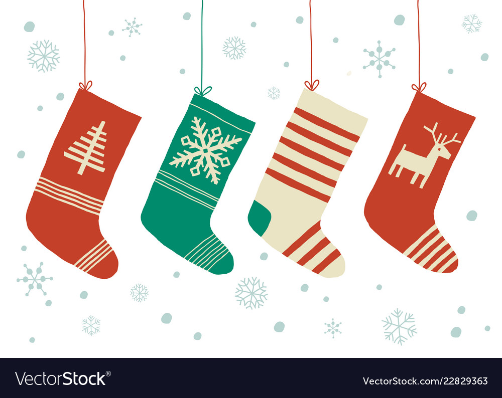 Christmas Stockings Cartoon.Christmas Stockings Background Cartoon