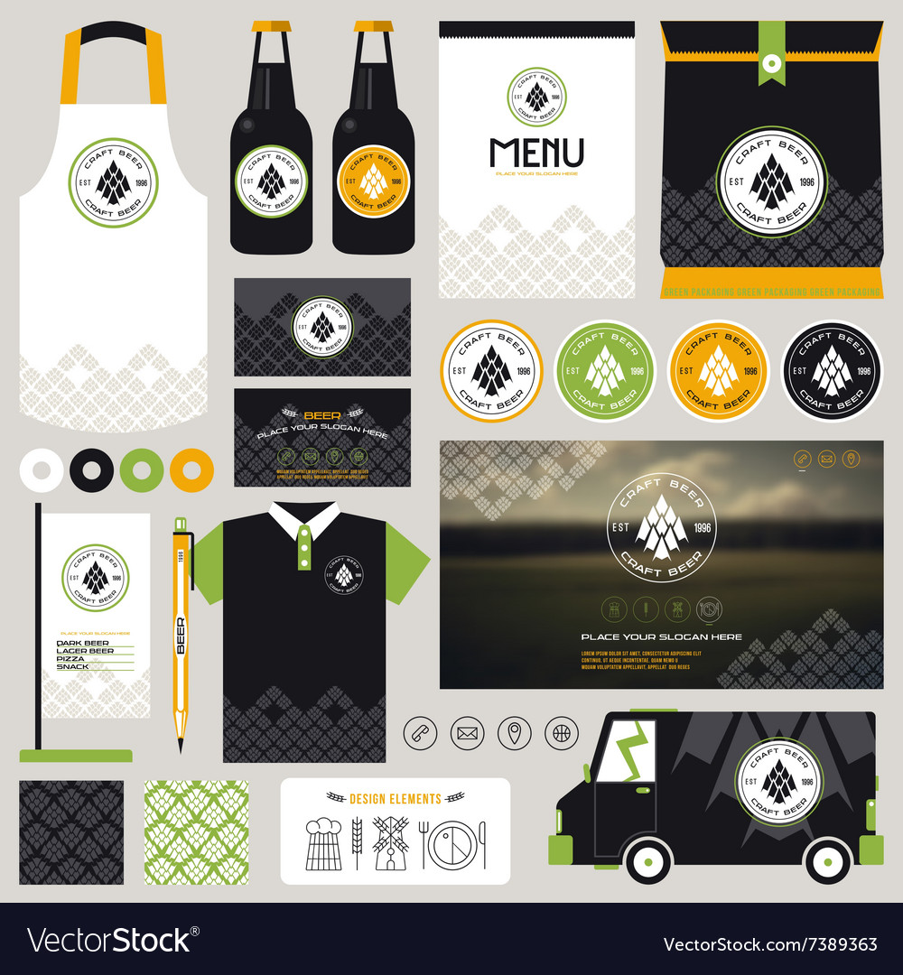 Concept for craft beer restaurant identity
