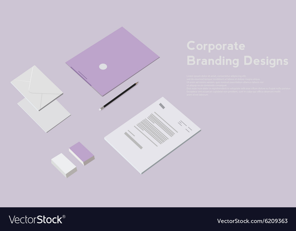 Corporate identity template design Business