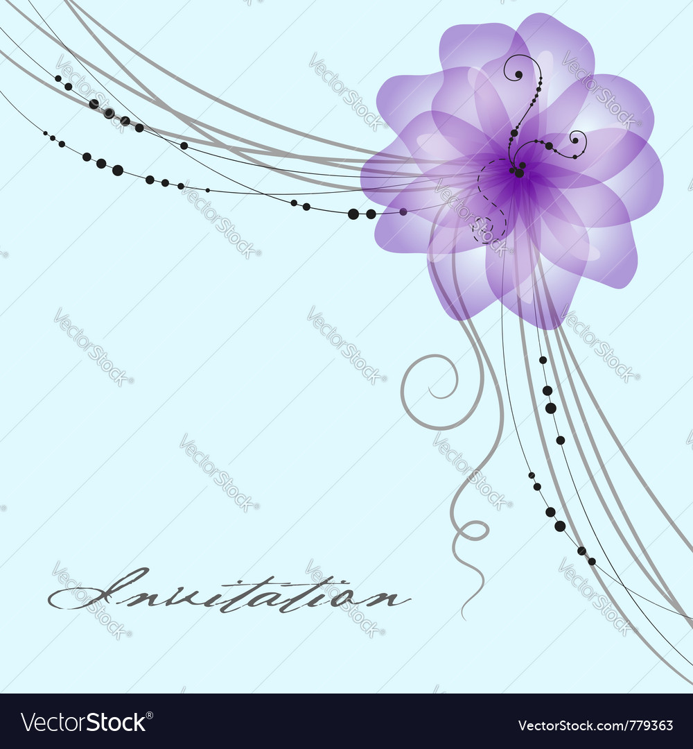 Floral wedding card vector image