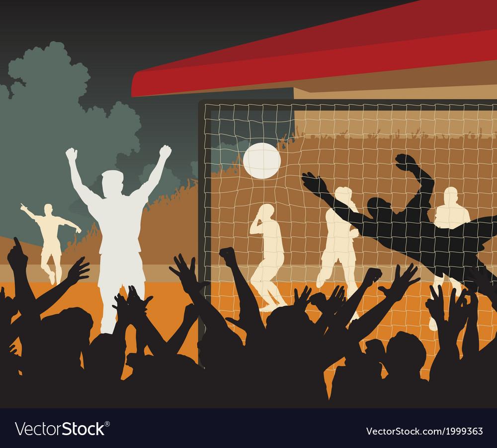 Goalscorer vector image