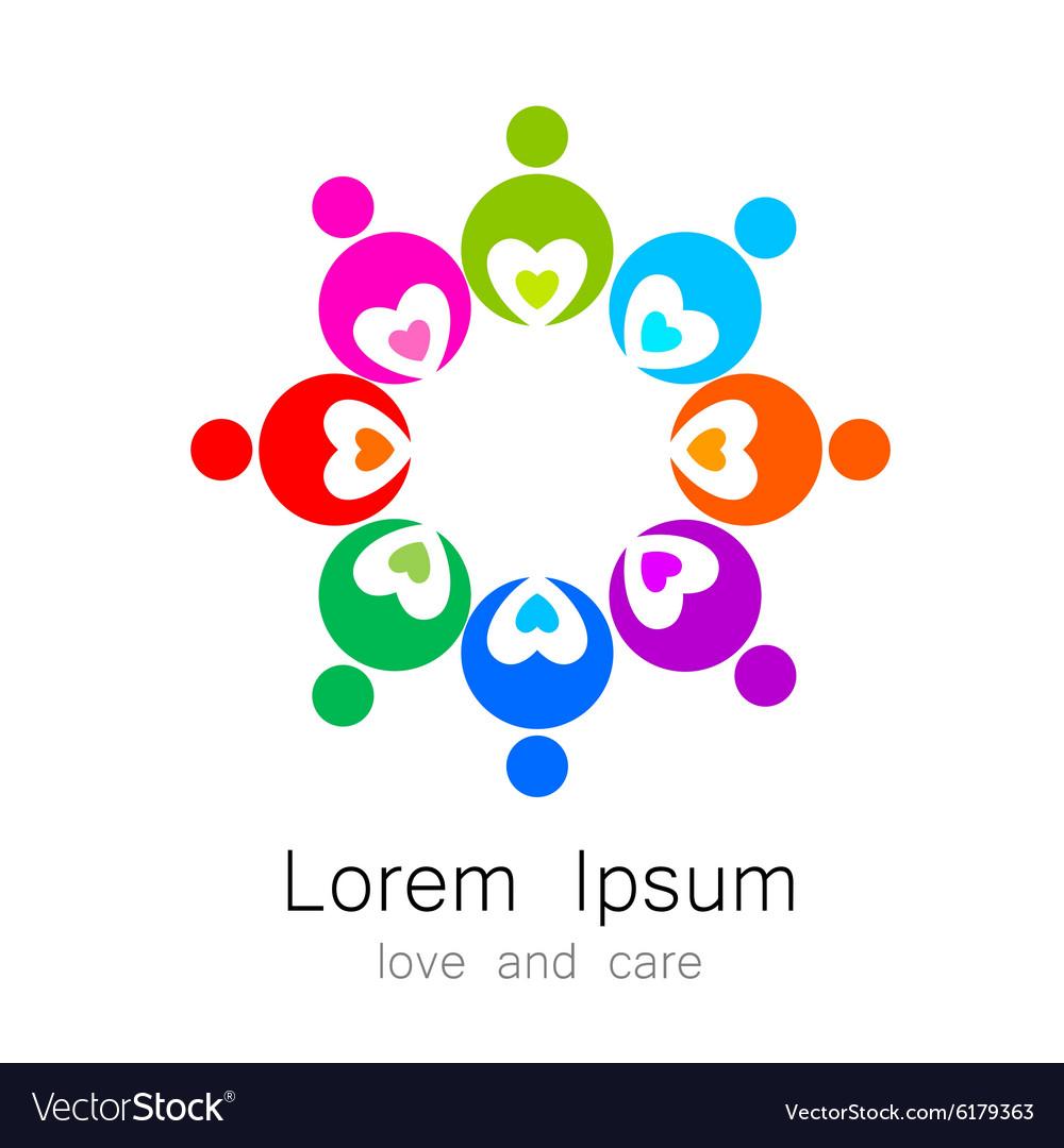 Logo template love care