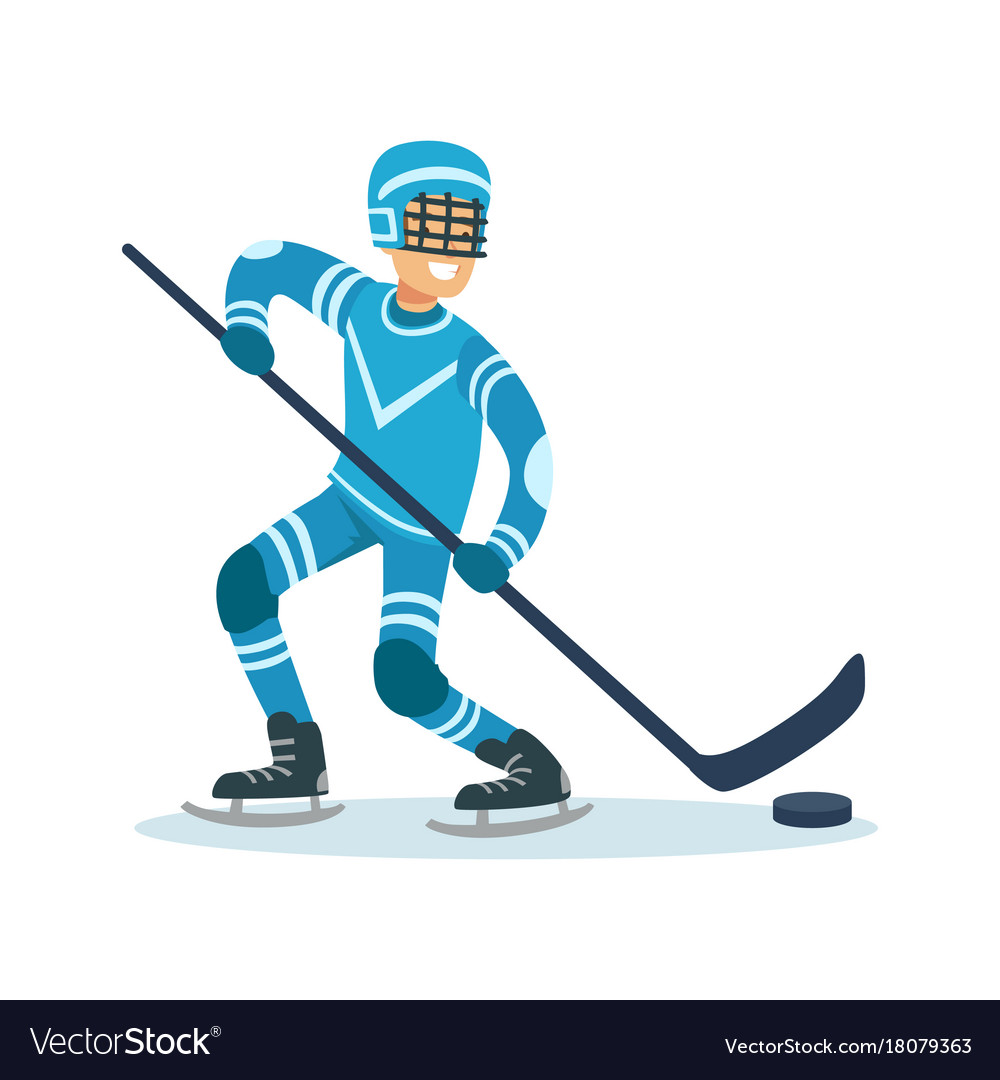 Male hockey player character active sport