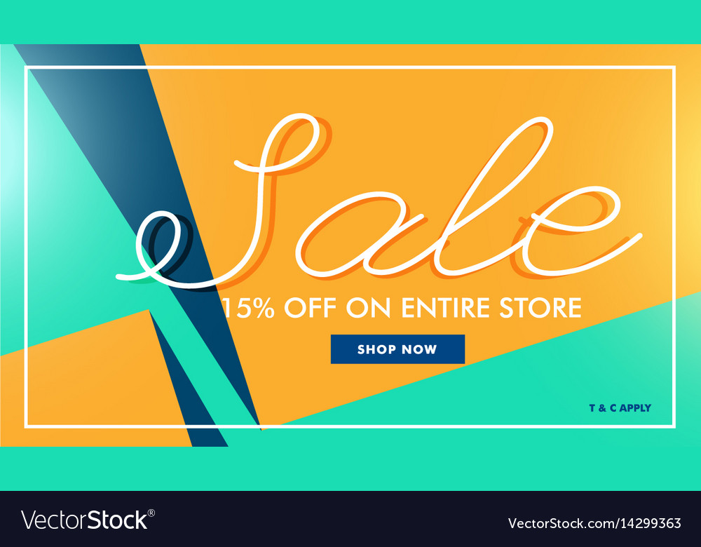 Modern sale banner in minimal style vector image
