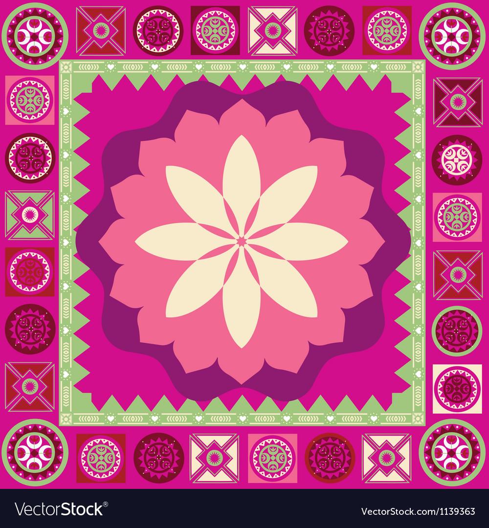 Ornamental floral spring poster