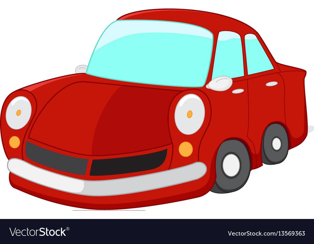 Red car cartoon