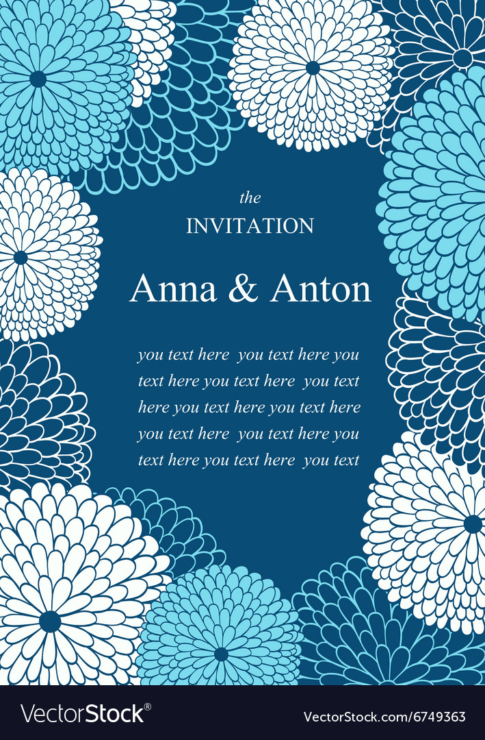 Wedding invitation on the theme of flowers vector image
