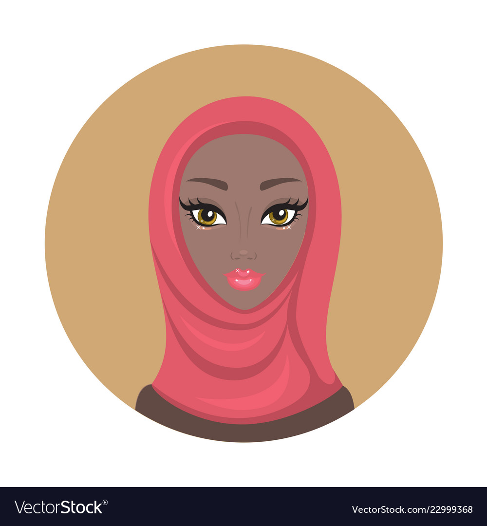 Beautiful young lovely muslim woman girl portrait