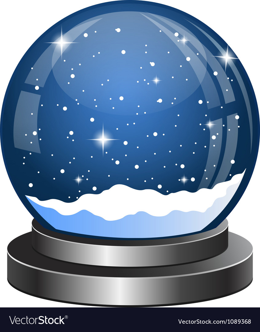 Christmas snow globe with the falling snow