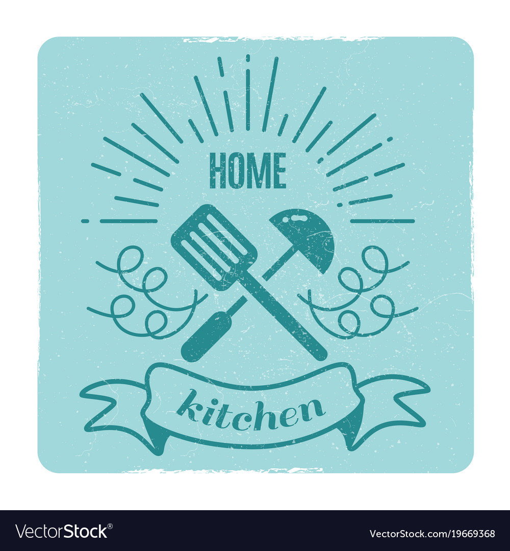 Home kitchen home cooking label design