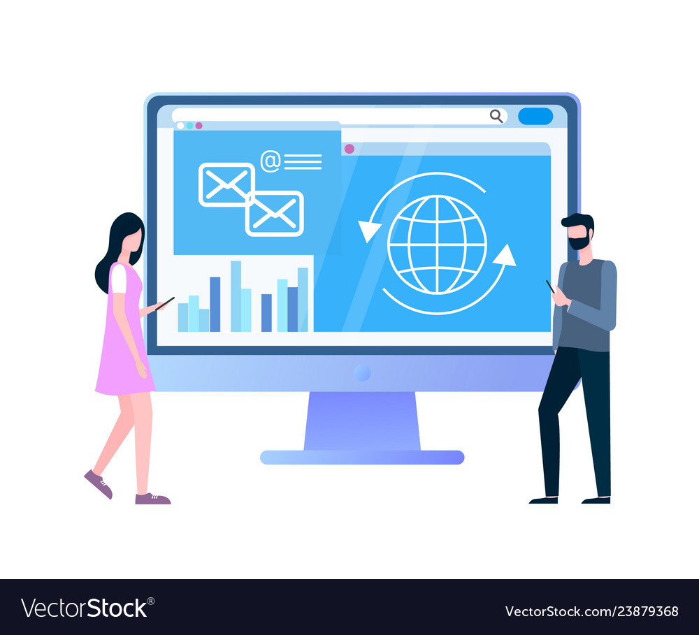 Internet shopping statistical page and customers