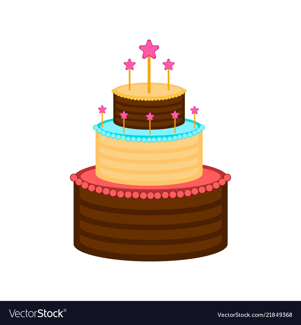 Isolated Birthday Cake Icon Royalty Free Vector Image