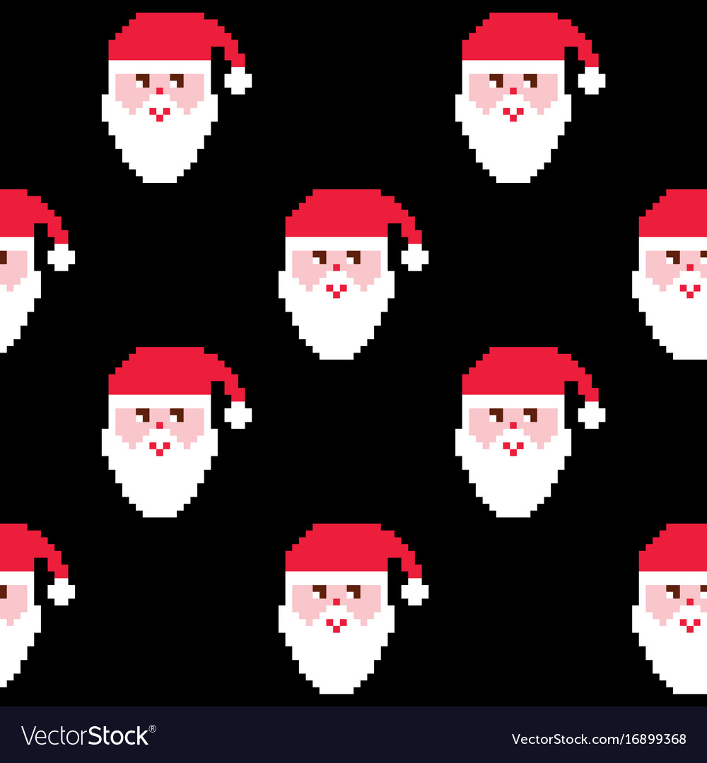 Santa Seamless Pattern Christmas Wallpaper Xmas