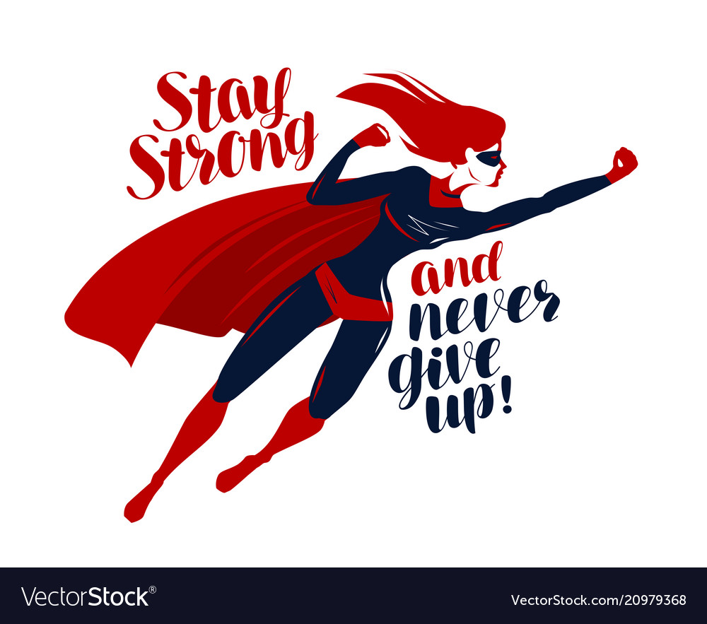 Supergirl superhero flying up rapidly stay