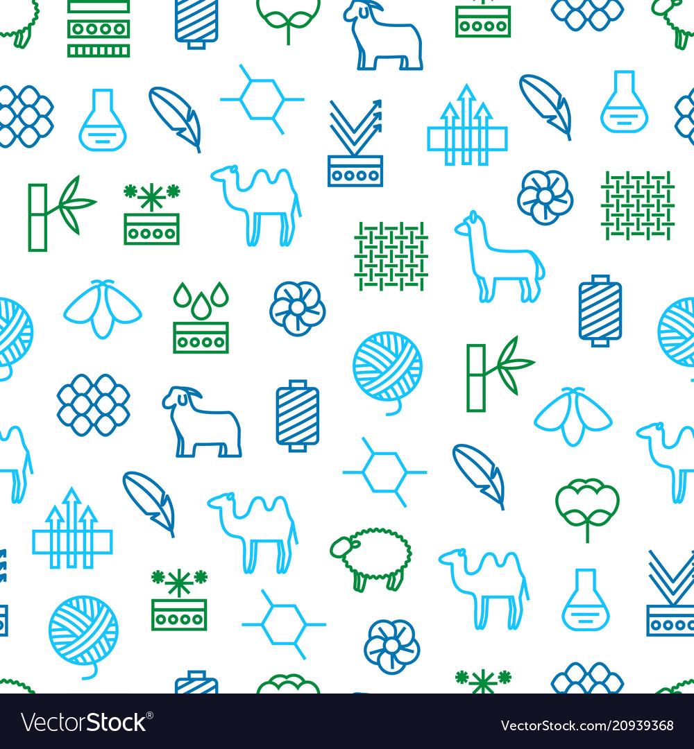 Symbols of fabric feature seamless pattern