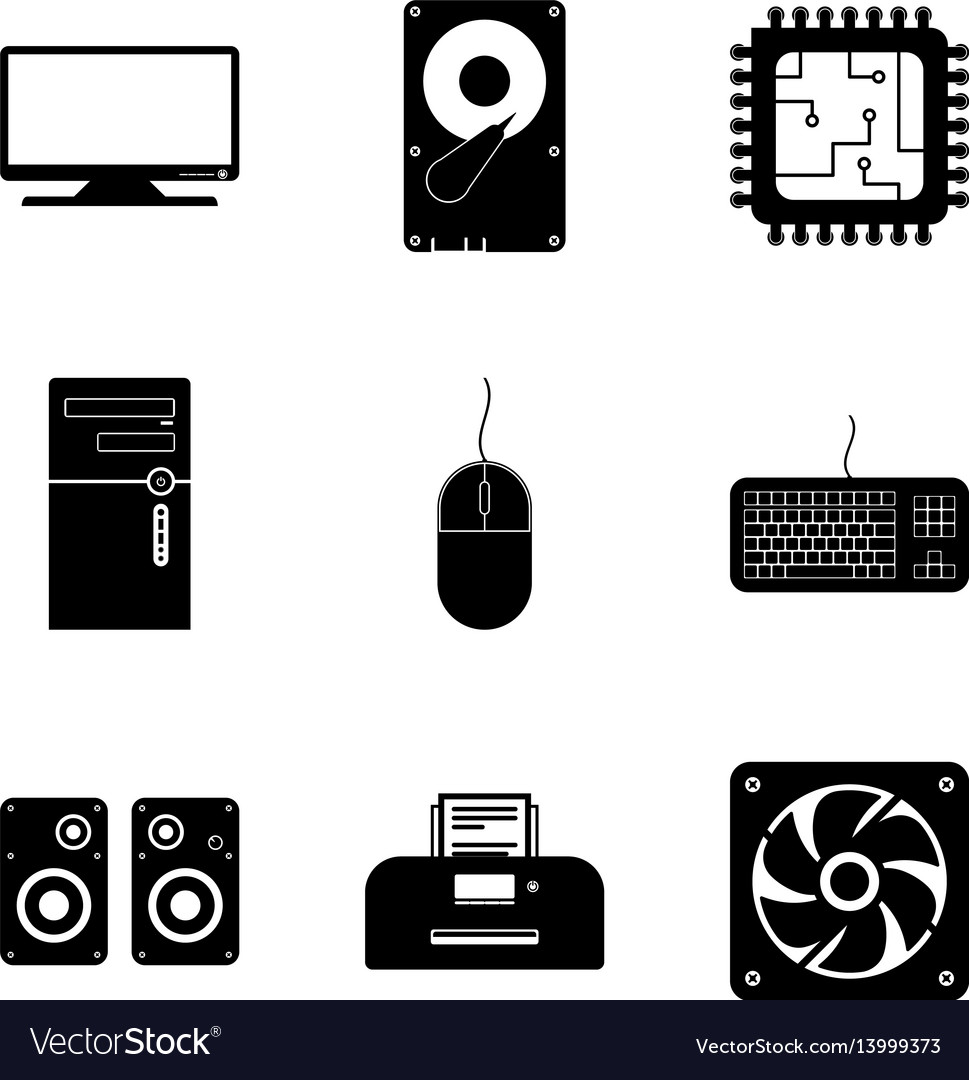 Computer component icon collection