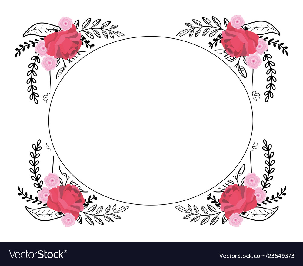 Flowers wreath cartoon