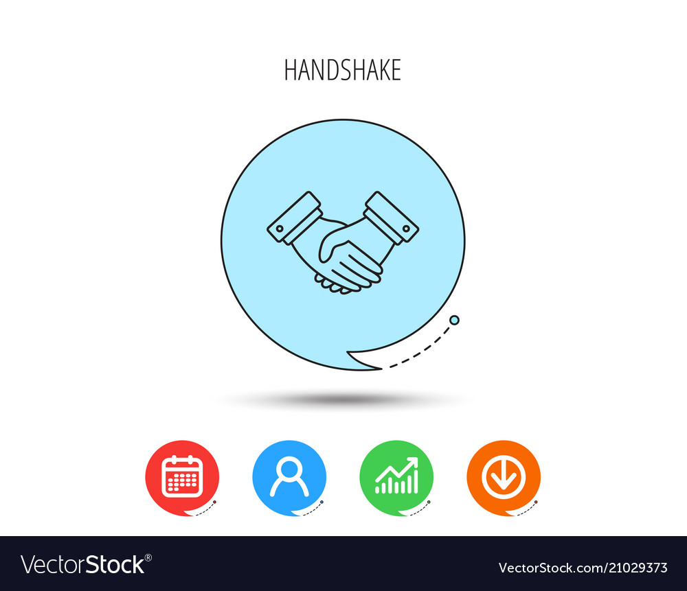 Handshake icon deal agreement sign