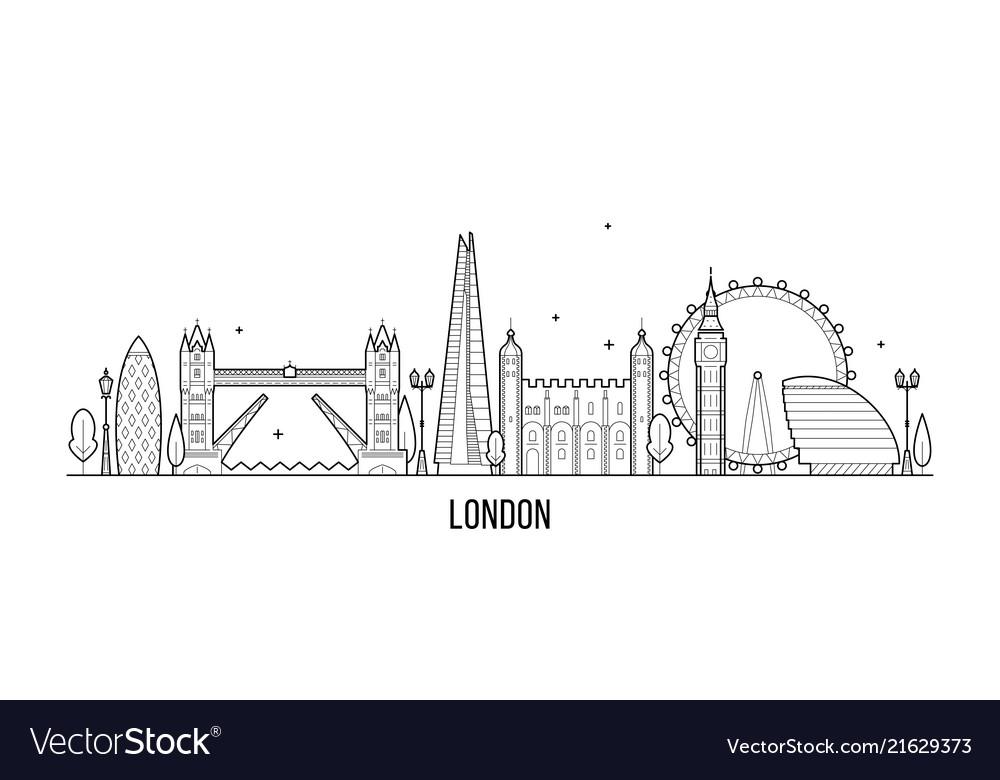 London skyline england uk city buildings