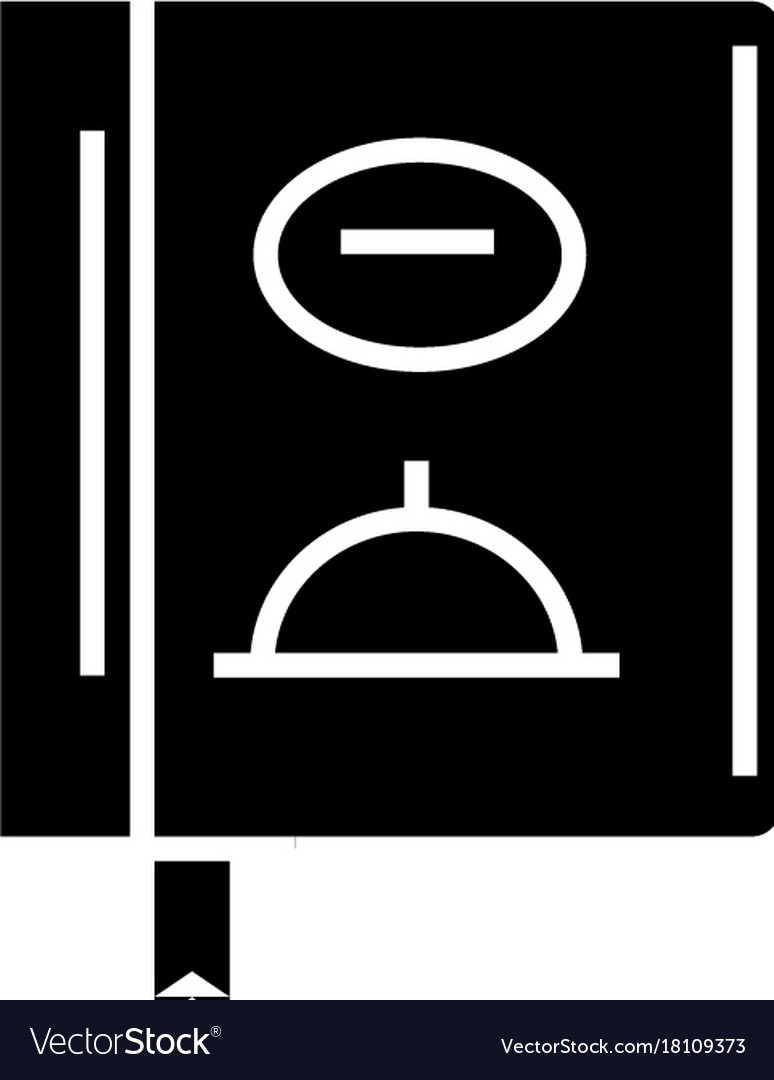 Menu - lunch icon black sign vector image