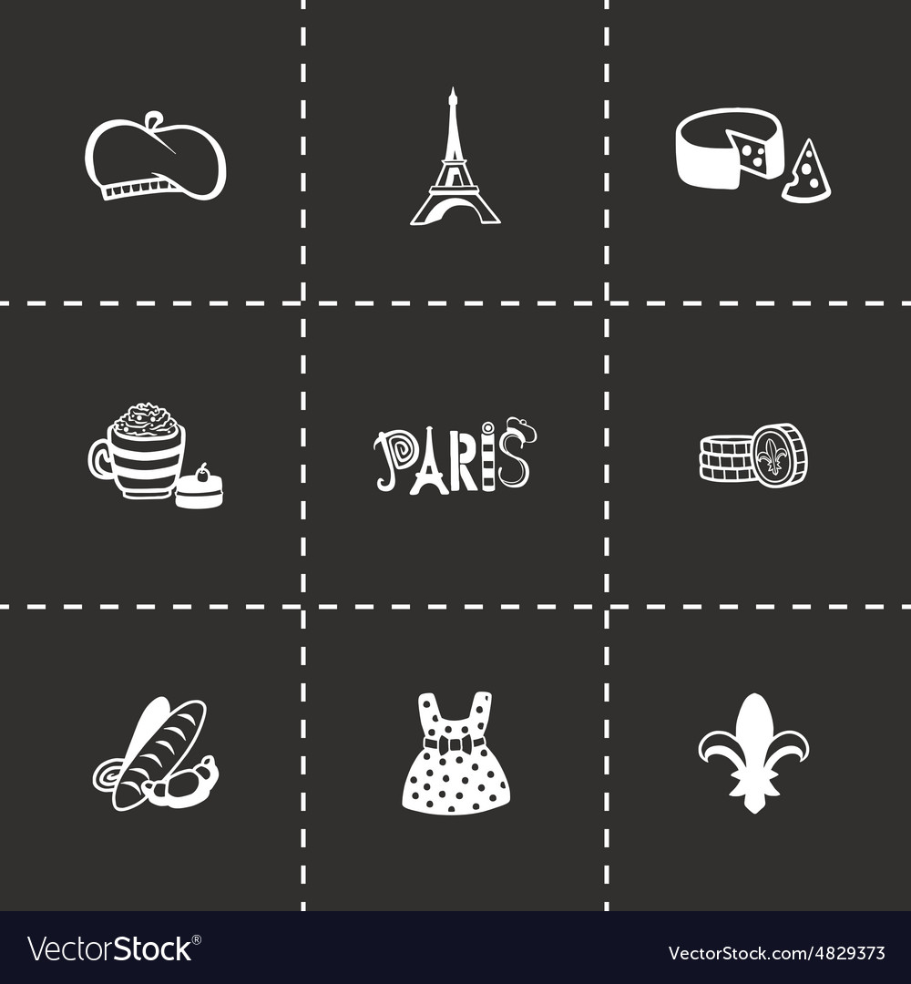 Paris icon set
