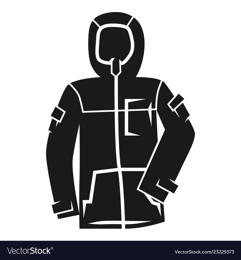3a35c988a7ad Winter ski jacket icon simple style Royalty Free Vector