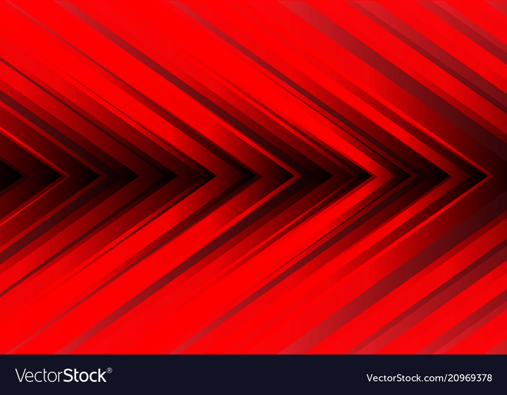 Abstract red light arrow direction design modern
