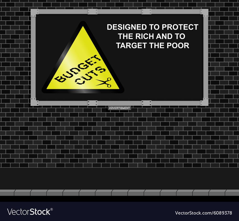 Budget cuts advertising board