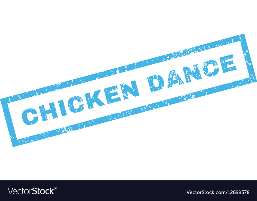 Chicken Dance Rubber Stamp vector image