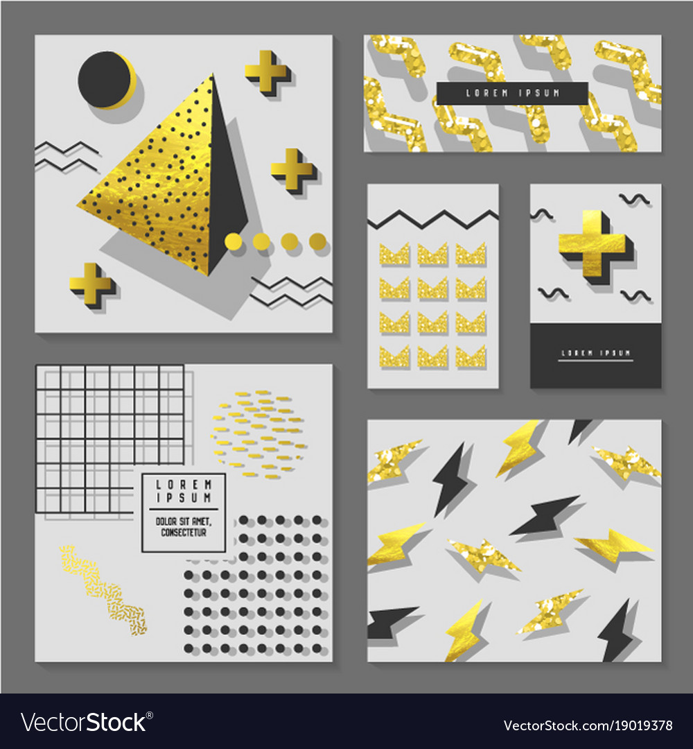 Golden glitter geometric design for invitations vector image stopboris Image collections