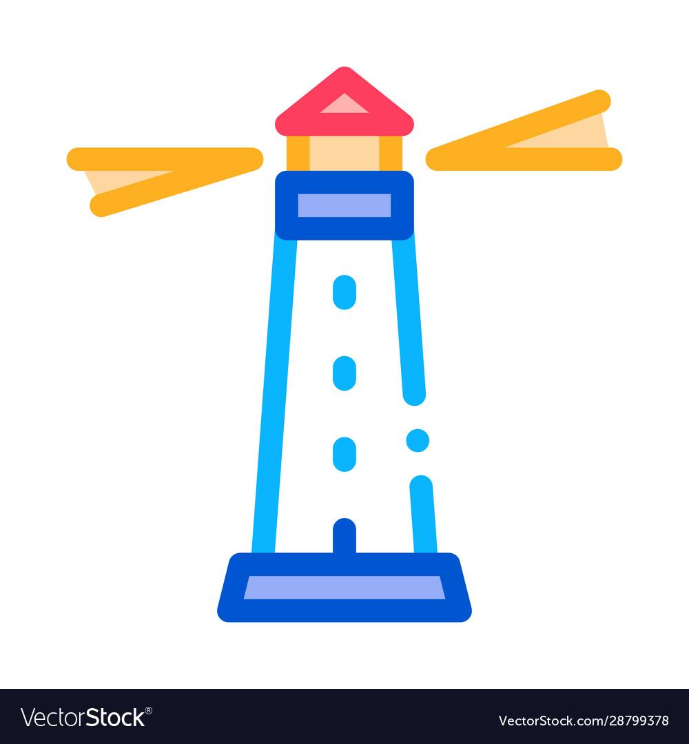 Lighthouse beacon icon outline