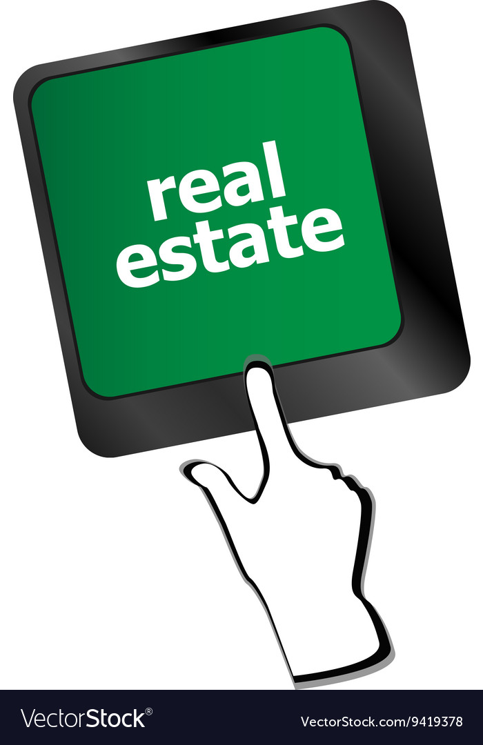 Real Estate Concept Hot Key On Computer Keyboard Vector Image