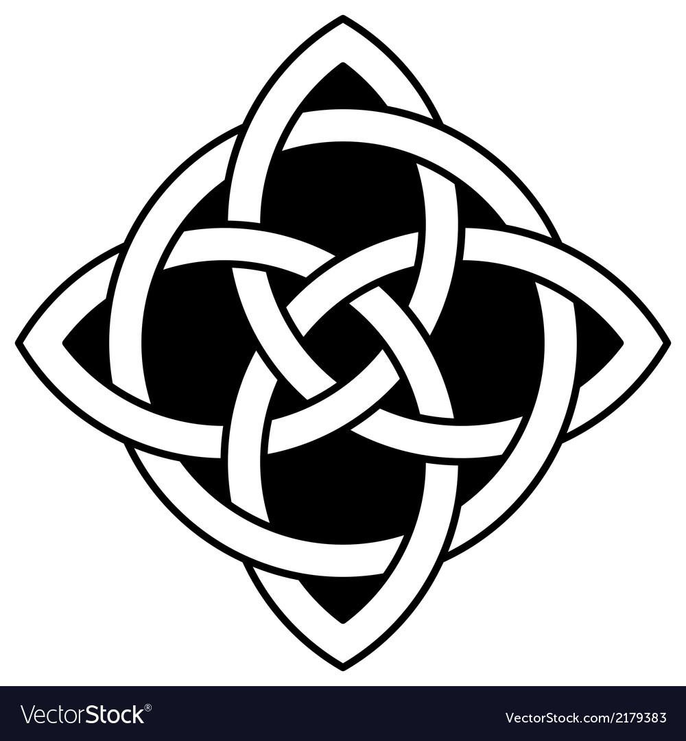 Celtic Quaternary knot Royalty Free Vector Image