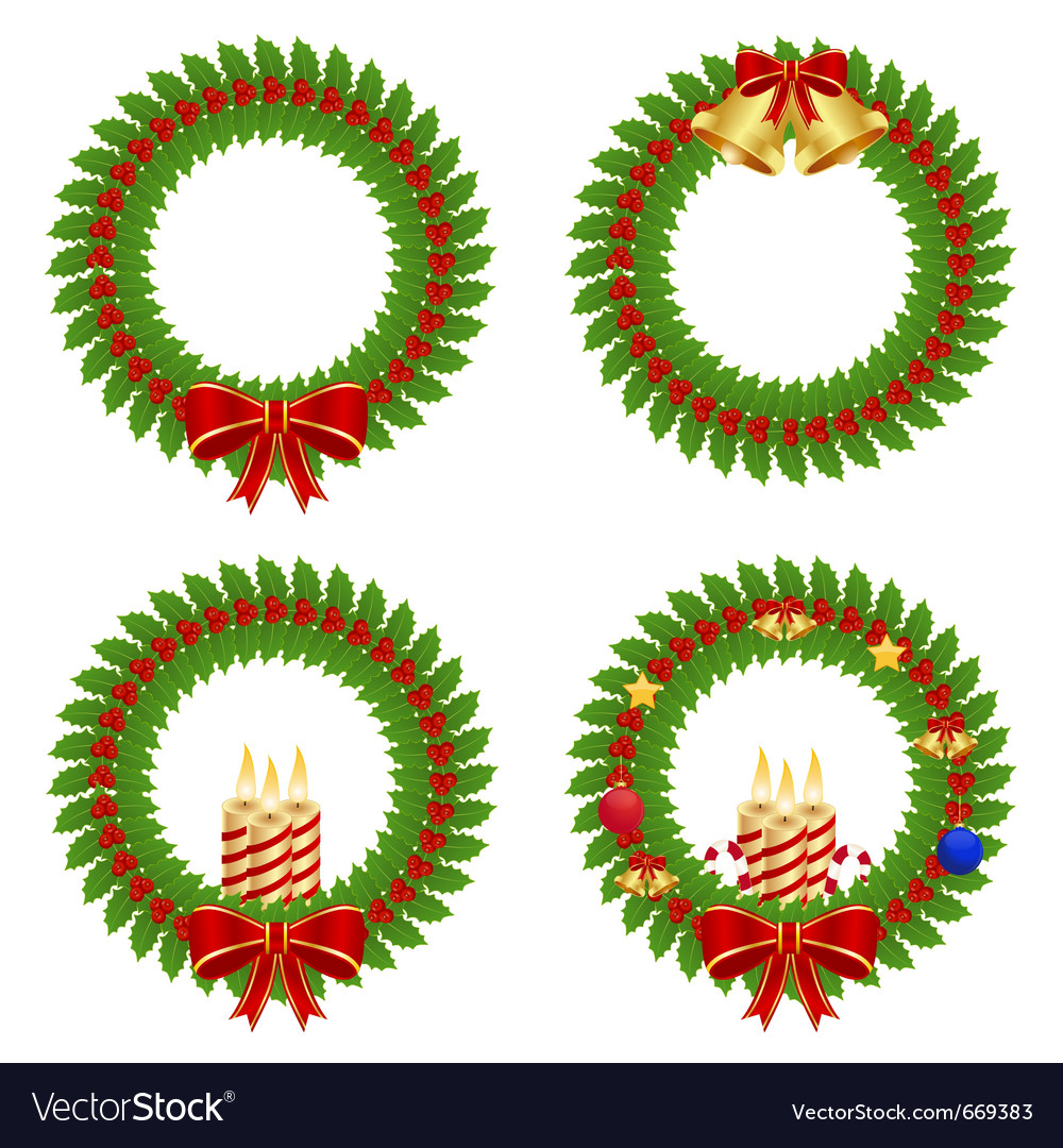 Collection of holly wreath