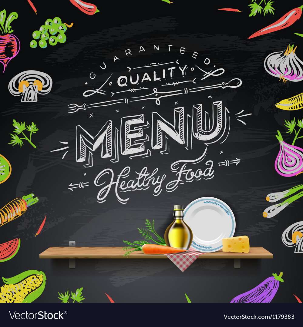 design elements menu chalkboard royalty free vector image