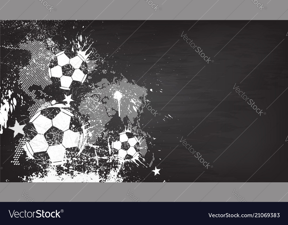 Grunge abstract football background