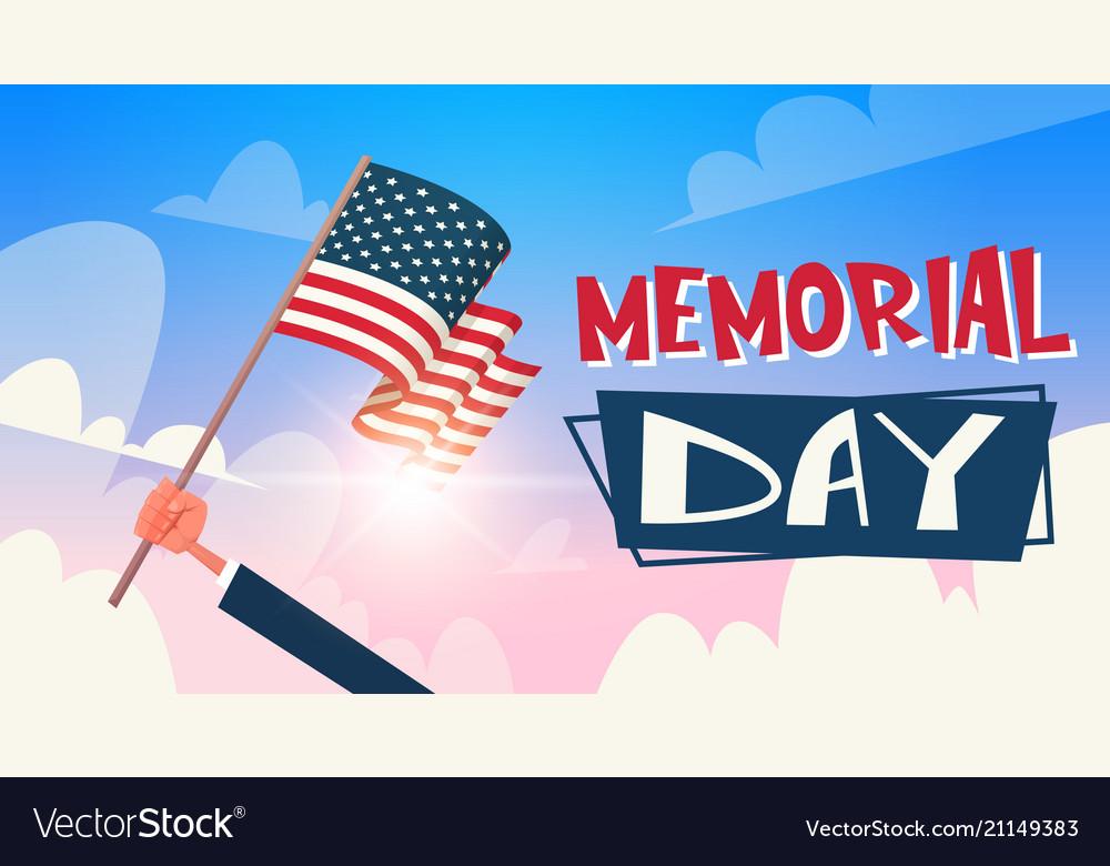 Memorial day usa greeting card wallpaper hand
