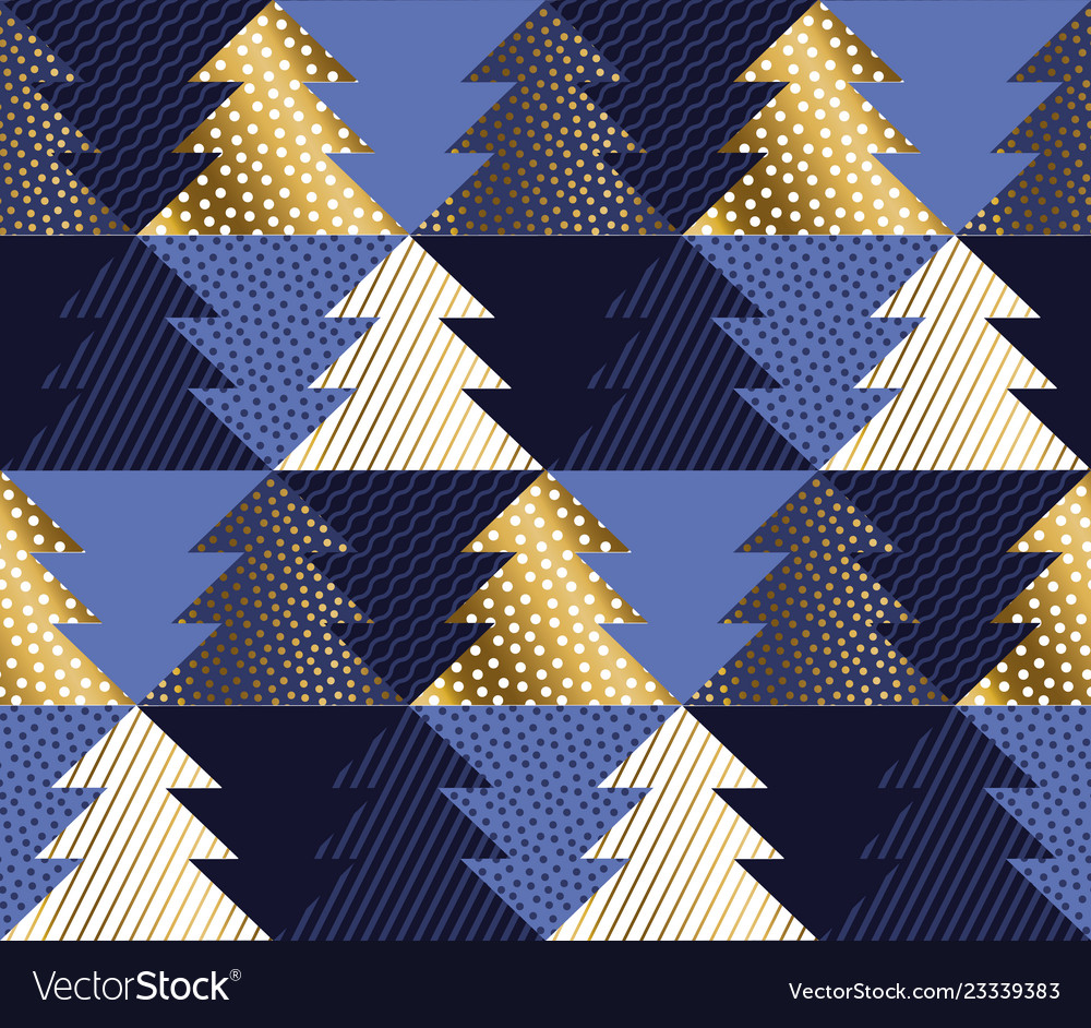 New year and christmas tree geometric pattern