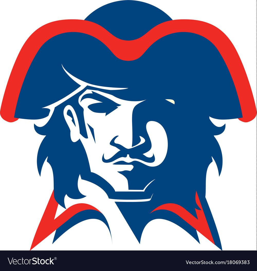 Pirate head mascot vector image