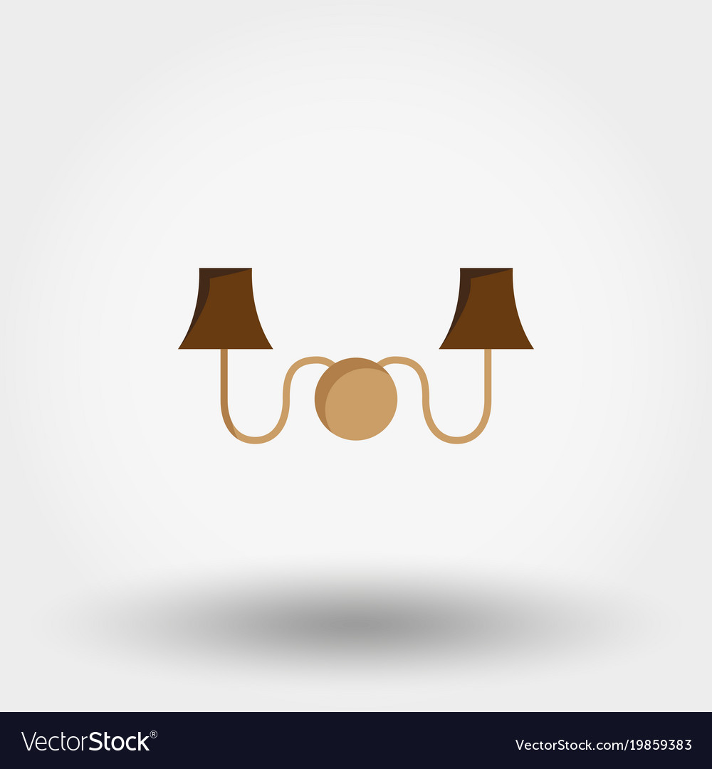 icon lighting. Delighful Lighting Sconce Wall Light Icon Flat Vector Image For Icon Lighting